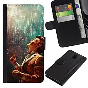 KLONGSHOP // Tirón de la caja Cartera de cuero con ranuras para tarjetas - El doctor - Samsung Galaxy Note 3 III //