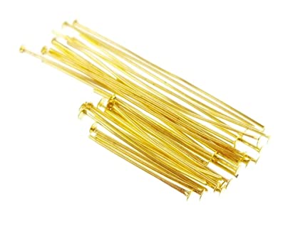 Amazon Com 25g Gold Assorted Mixed Size Flat Head Pins For Jewelry