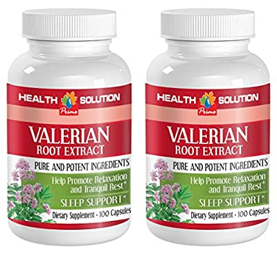 Nerve pills - VALERIAN ROOT EXTRACT - Valerian herbal supplement - 2 Bottle 200 Capsules