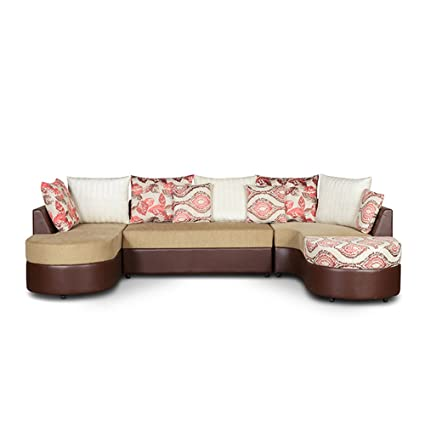 HomeTown 6000032130001 Lounger (Red and Beige)