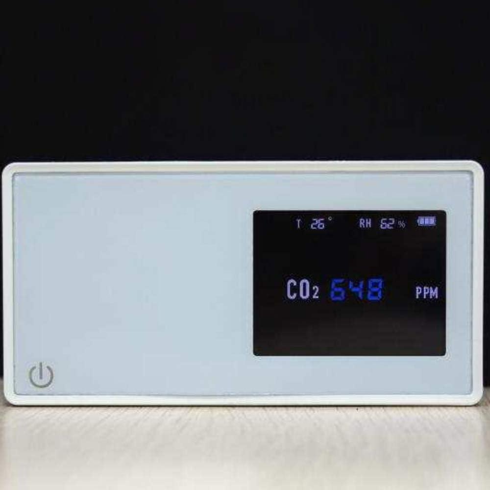 Medidor de Co2 Port/átil KKmoon Detector de Di/óxido de Carbono Detector de calidad del aire Co2 dom/éstico Probador de CO2 con pantalla de humedad de temperatura de cantidad de electricidad