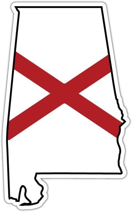 Alabama State Flag Decal Sticker