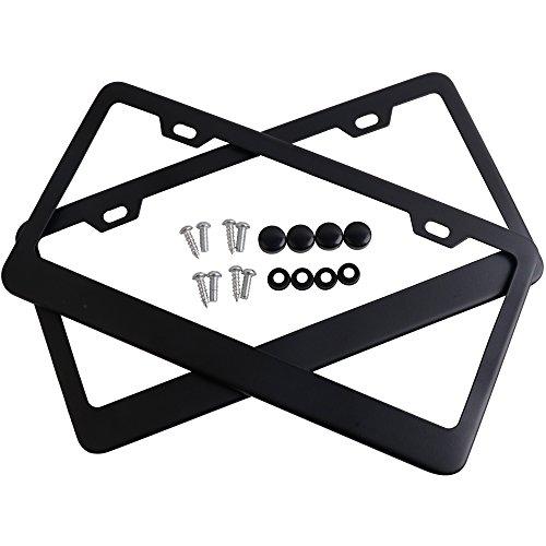 license plate frame black 2 hole - 8