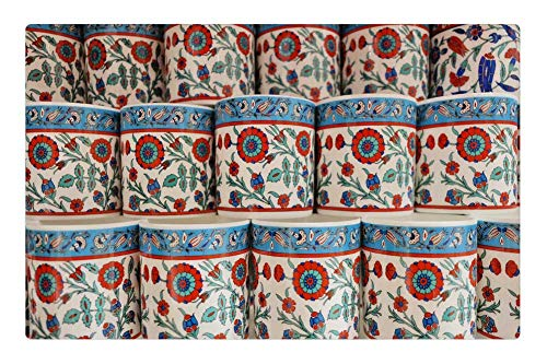 - Tree26 Indoor Floor Rug/Mat (23.6 x 15.7 Inch) - Cup Souvenir Ornament Colourful Decoration Design