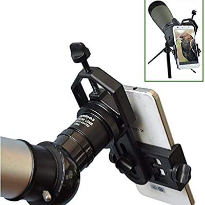 Solomark Universal Cell Phone Adapter Mount - Compatible with Binocular Monocular Spotting Scope Telescope and Microscope - For Iphone Sony Samsung Moto Etc -Record the Nature of the World by Solomark