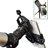 Solomark Universal Cell Phone Adapter Mount - Compatible with Binocular Monocular Spotting Scope Telescope and Microscope - for iPhone Sony Samsung Moto Etc