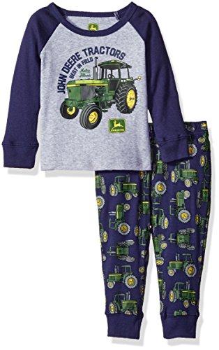 John Deere Toddler Pajamas - John Deere Baby Best In Field Pajama 2 Piece Set, Heather Grey/Navy, 12 Months