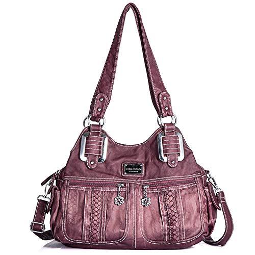 Purses and Handbags for Women Ladies'Shoulder Bag Designer Tie Dye Satchel Fashion Totes for Gril (0038 Purple) Fashion Large Capacity Bag (0038 (Washed Handbag Purse)