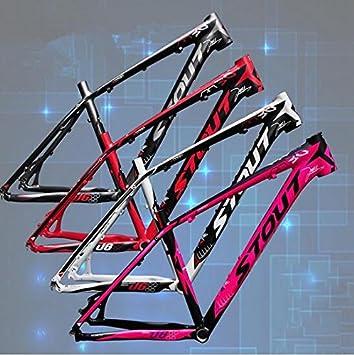 MTB bicicleta marco 26 * 16/17/18 piezas de aluminio para ruedas MTB bicicleta de marcos 4 colores: Amazon.es: Deportes y aire libre
