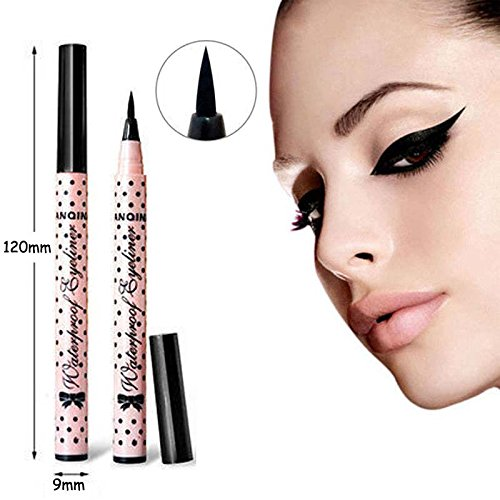 [NEW 1 Pcs Black Long Lasting Eye Liner Pencil Waterproof Eyeliner Smudge-Proof Cosmetic Beauty Makeup Liquid Eyeliner Pen Tools] (Drag Queen Costumes Nyc)