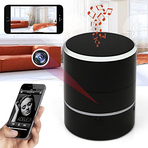Hidden Camera 1080P WiFi HD Spy Cam Bluetooth Speakers Wireless Mini Camera Rotate 180° Video