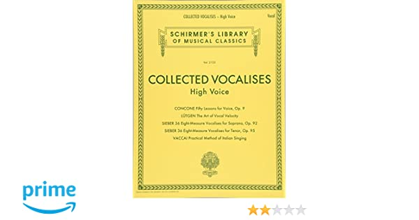 Voice Collected Vocalises Medium Voice Vocal Sheet Music Book Concone Lutgen Vaccai Goods Of Every Description Are Available