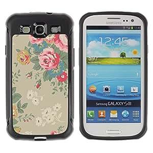 Suave TPU GEL Carcasa Funda Silicona Blando Estuche Caso de protección (para) Samsung Galaxy S3 III I9300 / CECELL Phone case / / Bush Floral Vintage Wallpaper /