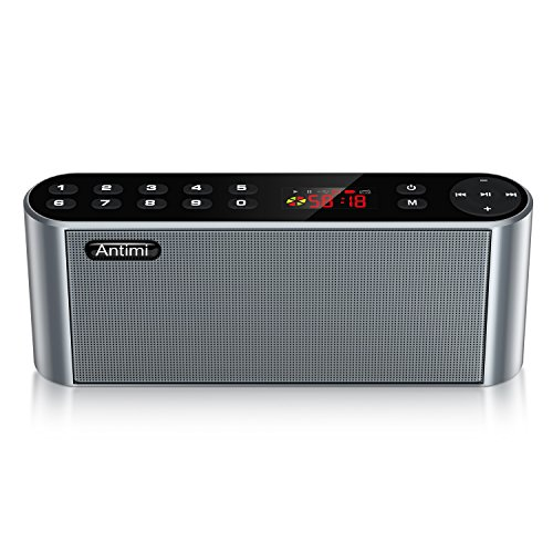 Antimi Bluetooth/FM Radio/MP3 Player Portable Wireless Speaker (Black)