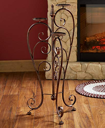 The Lakeside Collection Iron Pillar Candle Stand - (Candle Pillar Stand)