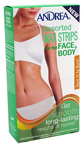 Andrea Assorted Wax Strips for the Face and Body, 10 Count
