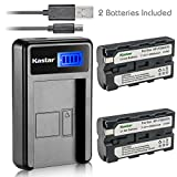 Kastar Battery (X2) & LCD Slim USB Charger for Sony NP-F570 NP-F550 NP-F330 and CCD-RV100 RV200 SC5 SC9 TR1 TR215 TR940 TR917 Camera, CN-126 CN-160 CN-216 CN-304 VL600 YN 300 LED Video Light