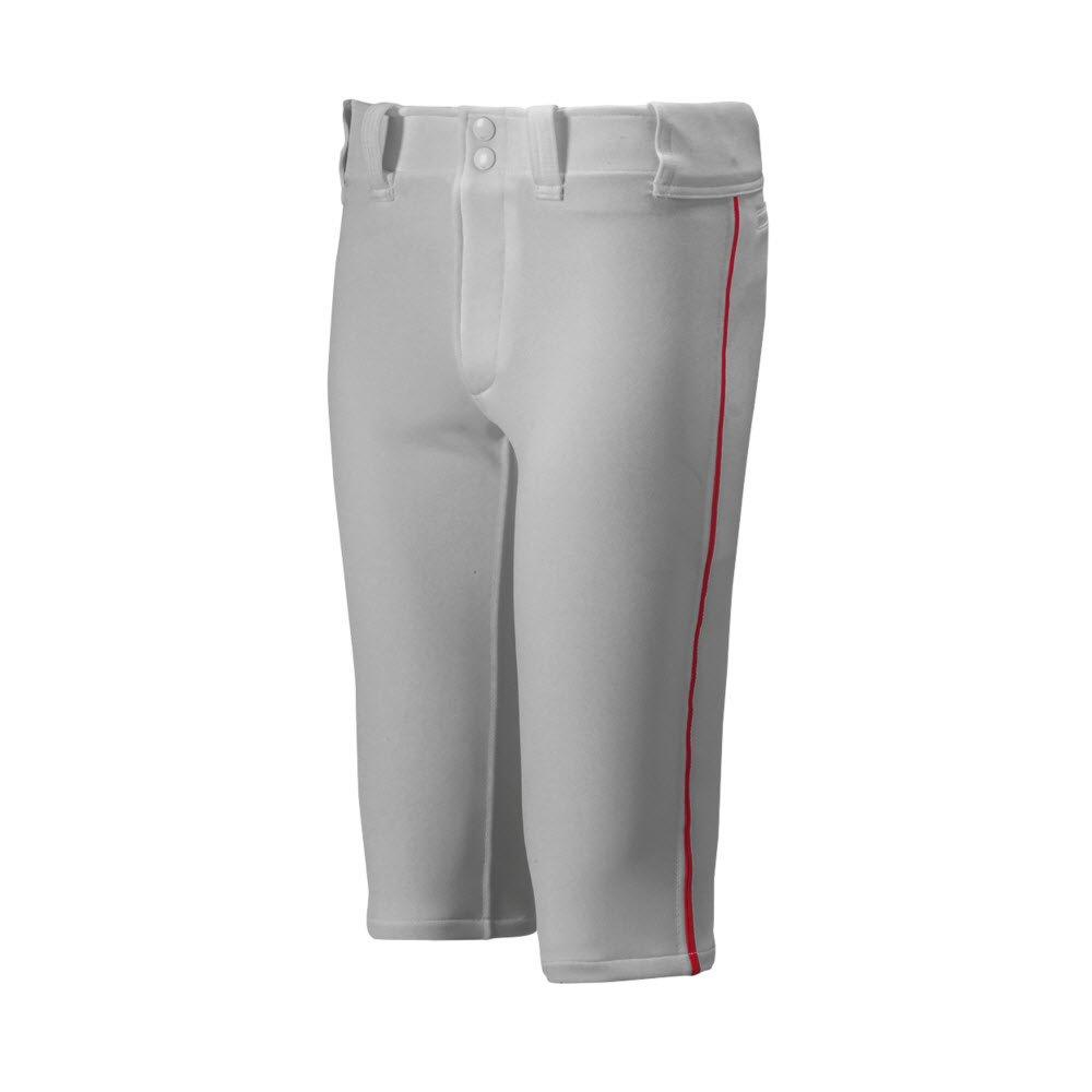 Mizuno Youth Premier Short Piped Pants B00NEZAGZW 2XL|グレー/レッド グレー/レッド 2XL