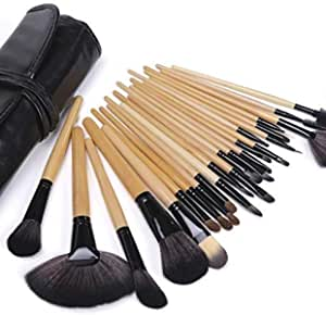 Wisedeal 24pcs Professional Cosmetic Makeup Brush Set with Case