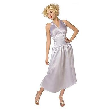 1950 Marilyn Monroe Vestido de traje blanco