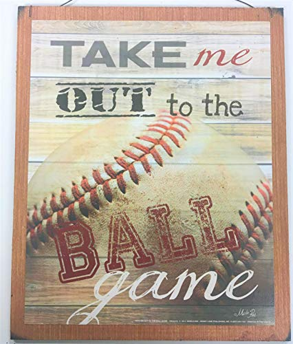 Take Me Out to the Ball Game Baseball Sports Wall Art Sign Boys Bedroom Decor