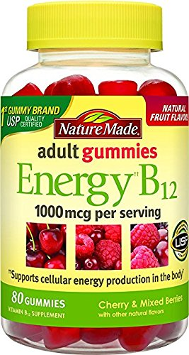 - Nature Made Energy B12 Adult Gummies, 80 Count