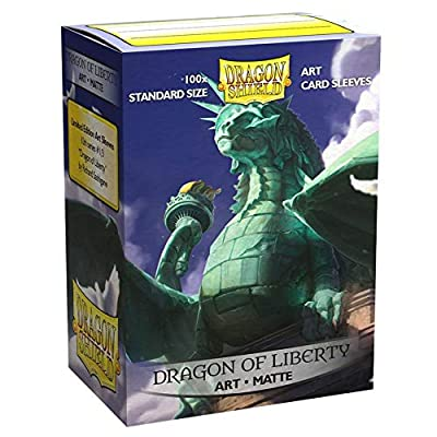 Dragon Shield Standard Size Matte Art Sleeves – 100 Count Dragon of Liberty: Sports & Outdoors