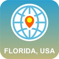 Florida, EUA Mapa off-line