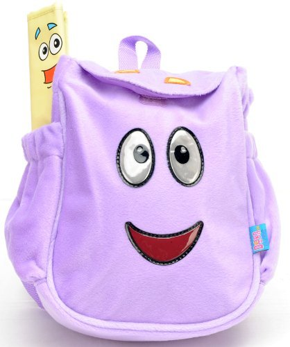 Nickelodeon Dora - the Purple Plush Toddler Backpack and Dora Bifold Wallet Set