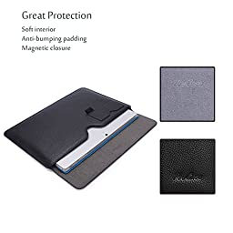 Microsoft Surface Pro 4 Case Sleeve, also fit Surface PRO 3 / Surface 3, ProCase Wallet Sleeve Case for Surface PRO 4 / 3 Tablet Computer, Compatible with Type Cover Keyboard (Black)