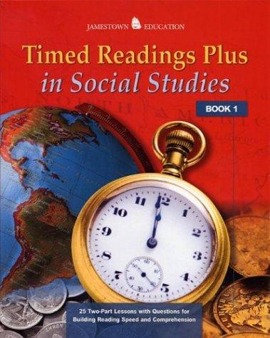 Timed Readings Plus In Social Studies  Book 3