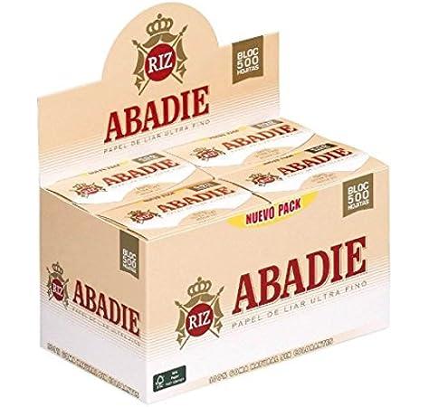 PAPEL DE FUMAR ABADIE 78MM BLOC 500 HOJAS (CADA ESTUCHE CONTIENE 20 LIBRITOS): Amazon.es: Bricolaje y herramientas