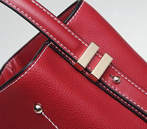 Handle Main Satchel à fourre Jxth Cadeaux Sac Tout Top Sac Vintage Vintage Rouge à Rouge Taille Main Sac à Main Couleur Fourre Tout S UEF4xSq48w