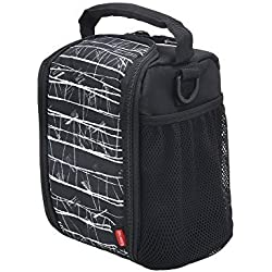 Rubbermaid LunchBlox Small Lunch Bag, Black Etch, 1813500 (2-Pack)