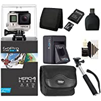 GoPro Hero4 Black Action Camcorder with Valuable 16GB Kit