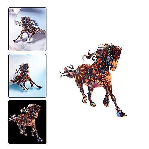 Carry stone Kreative Pferd Tier Brosche Unisex Bunte Emaille Schal Schal Clip Kragen Pin Bekleidungszubeh/ör Dekoration Hochzeit Schmuck Geschenk Langlebig und Praktisch