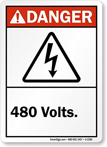2285 Labels (Danger (ANSI): 480 Volts (with graphic) Label, 14