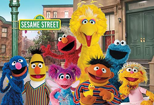 ERIC 7x5ft Sesame Street Birthday Photography Backdrops Children First 1st Second 2nd Third Birthday Party Theme Photo Booth Background Baby Shower Banner Decoration Supplies Photo Studio Props -