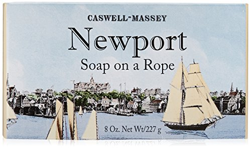 Caswell-Massey Triple Milled Luxury Bath Soap Newport Soap On A Rope - Famed Fragrance - 8 Ounces
