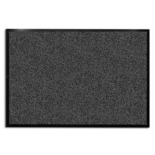 casa pura Carpet Entrance Mat, Gray (Mottled) 36'' x 236'' | Absorbent, Non-slip, Indoor/Outdoor (Multiple Sizes) by casa pura