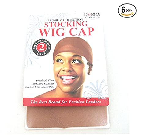Donna Stocking Wig Cap Beige 6 pack Ships from US - Bwh Light Control