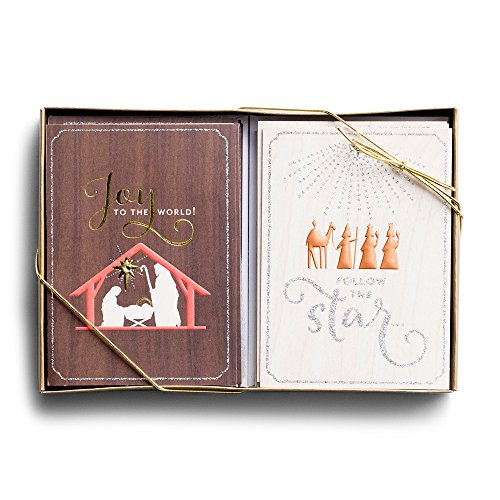 Christmas Boxed Cards - Joy - Manger - 24 Card Dual Pack