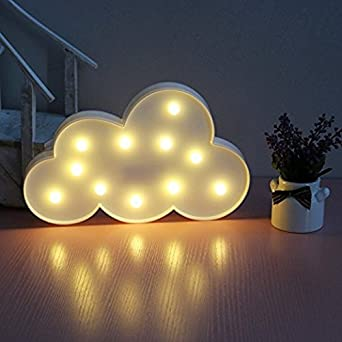 GZQ Decorative LED Lights White Clouds Valentine Romance Atmosphere Night Lights  Table Lamp Fairy Lights For