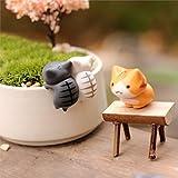 Miniature Lucky Cats - 6 Pieces/Set Cartoon Lucky Cats Micro Landscape Kitten Microlandscape Pot Culture Tools Garden Bonsai Decorations Miniatures - RANDOM DESIGN