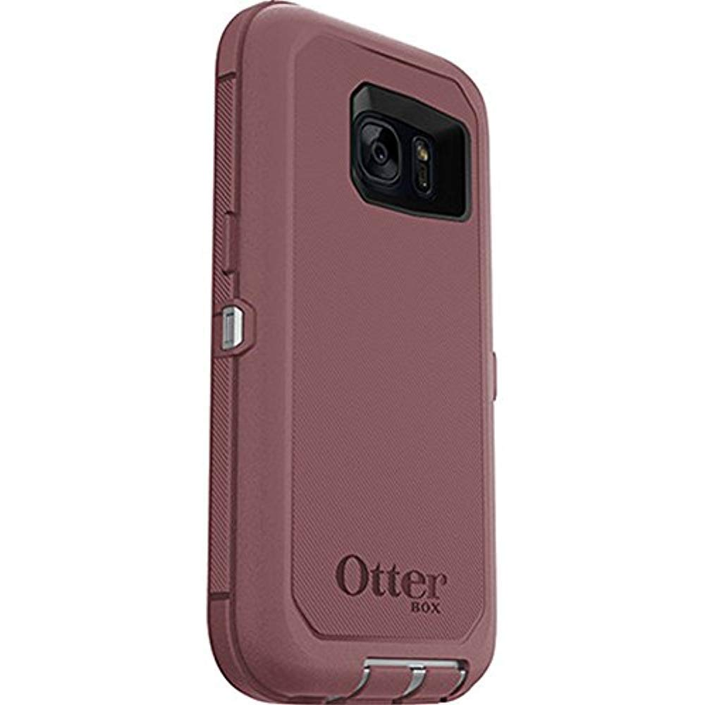 cheap for discount ab166 c5d64 Rugged Protection OtterBox DEFENDER SERIES Case for Samsung Galaxy S7 (Fits  Galaxy S7 Only) - Bulk Packaging - (GUNMETAL GREY/MERLOT PURPLE)