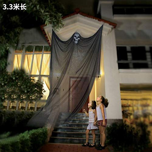 Large Hanging Outdoor Halloween Decorations.Halloween Ghost Hanging Decorations 14 Ft Halloween Eve Decor Scary Creepy Home Indoor Outdoor Decor Amazon In Toys Games