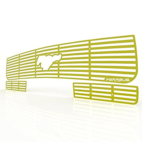 Ferreus Industries Grille Insert Guard Horizontal Billet Red Powdercoat fits 2005-2009 Ford Mustang TRK-121-01-Red-a