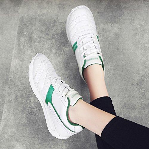 mujer planas Zapatillas blue Color Tamaño White para Zapatos dark Estudiante primavera 40 Zapatos de Plato Zapatos Green de Blanco White Deportes mujer Casual HWF qXpPAw