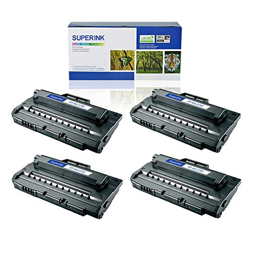SuperInk 4 Pack High Yield Compatible Toner Cartridge Replacement for Samsung ML-2250 ML-2250D5 Black use in Samsung ML-2250 ML-2251N ML-2251NP ML-2251W ML-2252W Printer ()