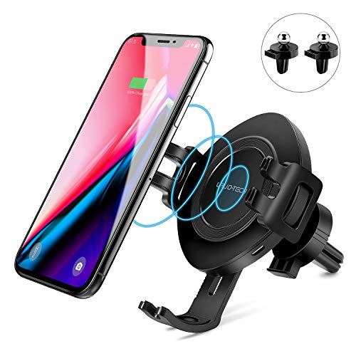 Wireless Car Charger Mount Fast Charging, Lavo-Tech Qi Wireless Charger Air Vent Phone Holder for iPhone X,iPhone Xs/iPhone Xs Max/Samsung Galaxy S9 /S8/Note 9/Note 8 and Other Qi Enabled Devices